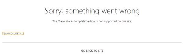 Sharepoint 2013 Save Site As Template Does Not Appear After