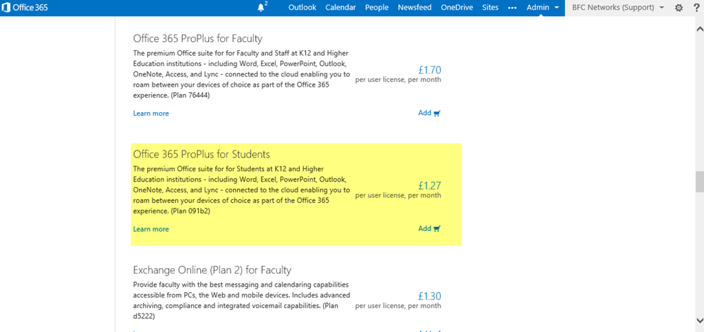 Office 365 for Education – BFC Networks